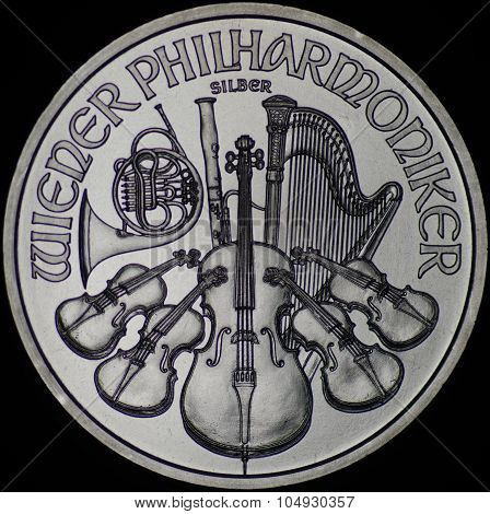 Austrian Philharmonic Silver Coin (obverse)