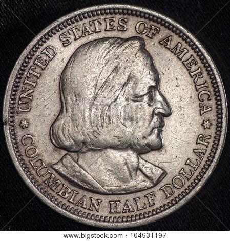 Columbas Commemorative Silver Coin 1892