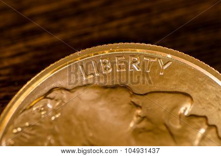 Liberty (word) On Us Gold Buffalo Coin