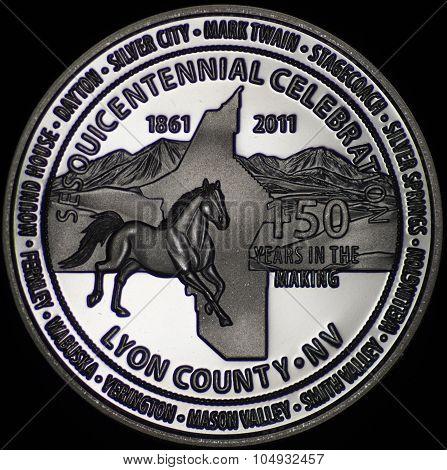 The Lyon County Nevada Commemorative Coin
