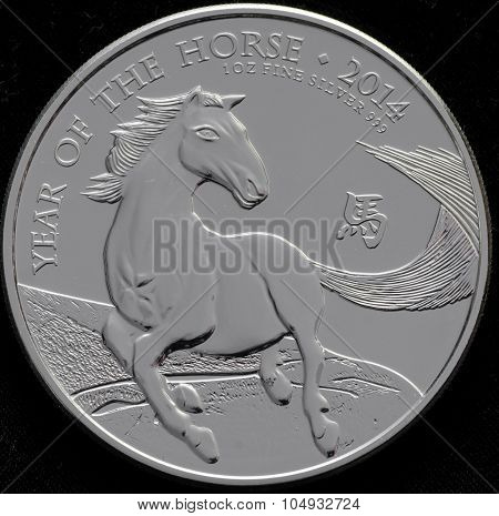 United Kingdom Silver Coin Year of Horse poster