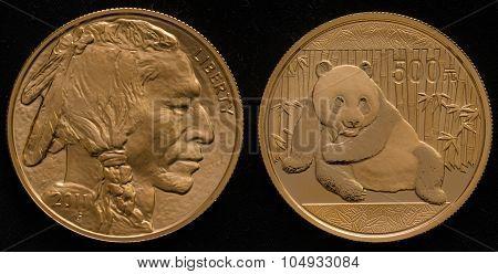 Us Gold Buffalo Coin Vs. China Gold Panda Coin