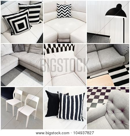 Interiors With Black And White Furniture