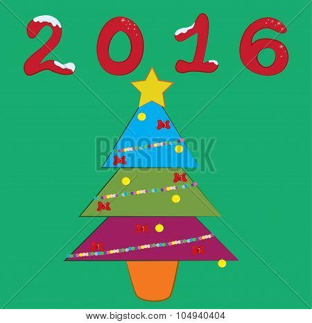 2016 Colorfull Newyear Tree