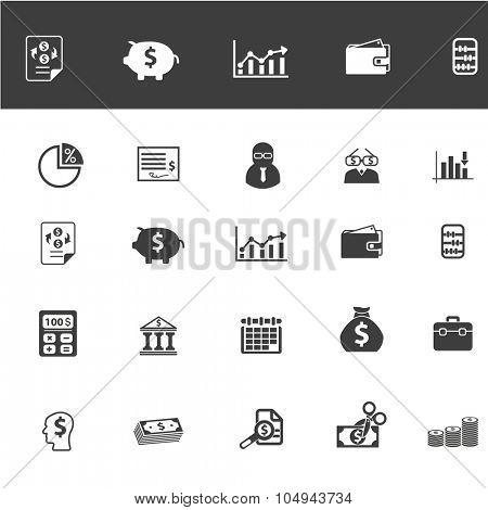 finance, bank, money icons