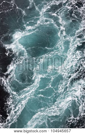 Close up on the whirlpools of the maelstrom of Saltstraumen near Bodo, Nordland Norway