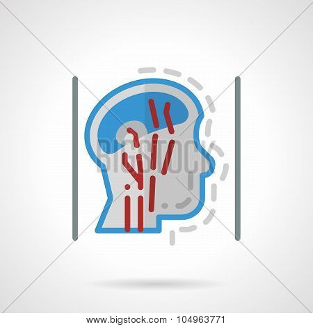 Head blood supply abstract flat vector icon.