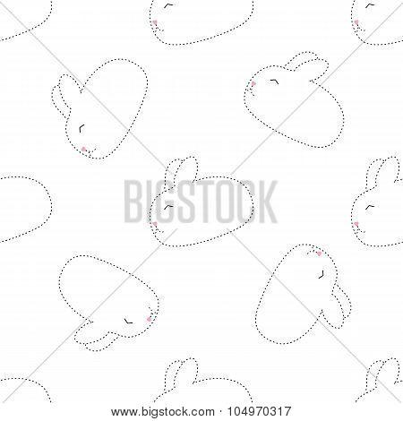 dot rabbit seamless pattern