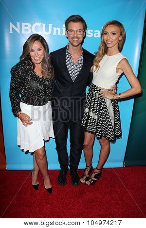 LOS ANGELES - AUG 12:  Melissa Rivers, Brad Goreski, Giuliana Rancic at the NBCUniversal 2015 TCA Summer Press Tour at the Beverly Hilton Hotel on August 12, 2015 in Beverly Hills, CA