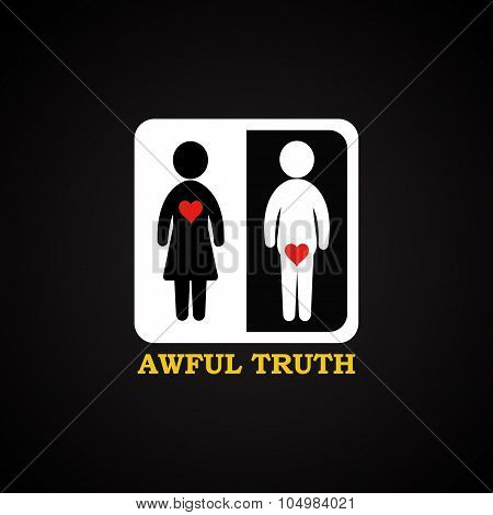 The awful truth - funny inscription template