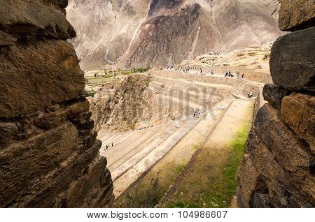Terraces Of Pisac In Urubamba Valley Near Cusco (peru)