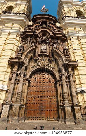 San San Francisco Church View Of Lima Peru