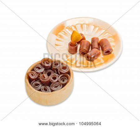 Apricot Pastila On A Light Background