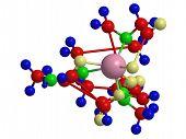 Molecular structure of Gadolinium diamide MRI contrast agent poster