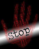 Stop Diabetes Indicating Warning Sign And Disease poster