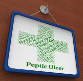 Peptic Ulcer Meaning Ill Health And Carbuncle poster