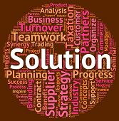 Solution Word Meaning Solved Successful And Resolution poster