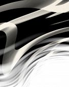 Zebra skin texture with some smooth lines in it poster