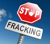 stop fracking ban shale gas and hydraulic or hydrofracking poster