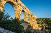 Aqueduct Pont du Gard over Gardon river - France poster