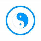 Yin Yang Symbol - Black and White Vector Illustration poster