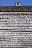 wood shingles on barn siding and roof, with cupola; Green Gables barn, Cavendish, Prince Edward Island, Canada poster