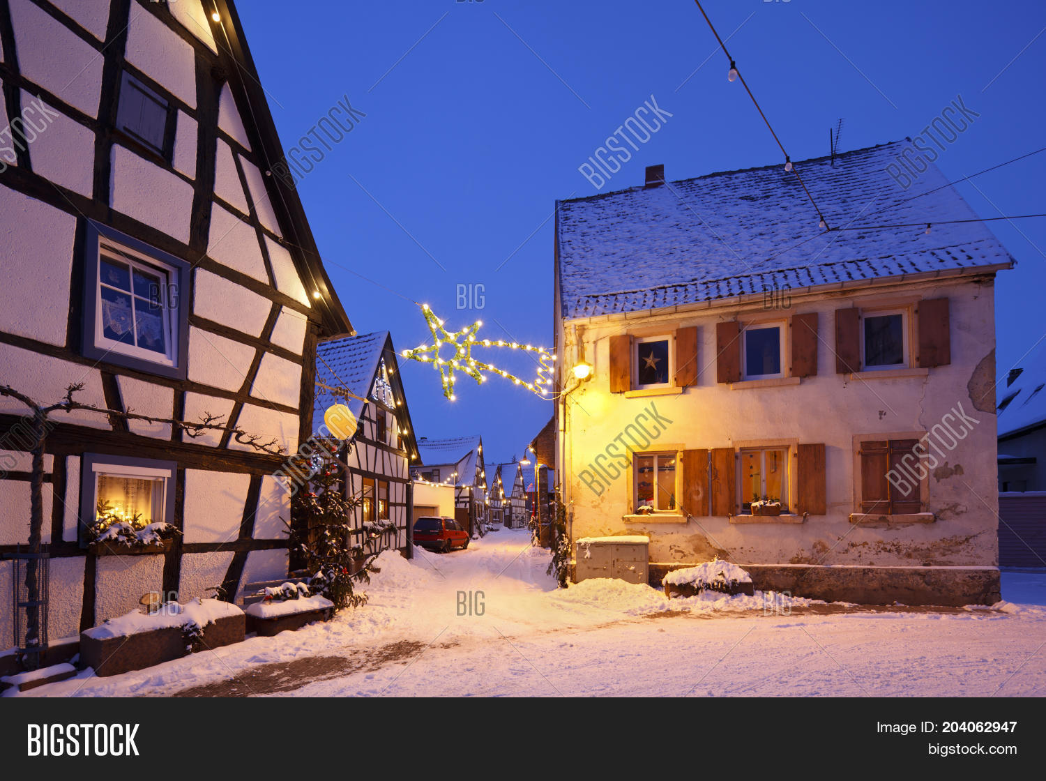 Christmas Village In Germany.Christmas Village Image Photo Free Trial Bigstock