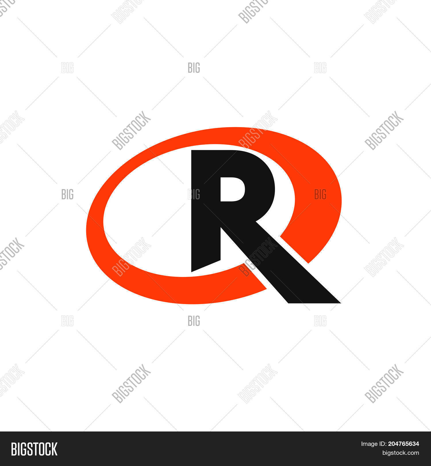 R Letter Circle Logo Vector & Photo (Free Trial) | Bigstock