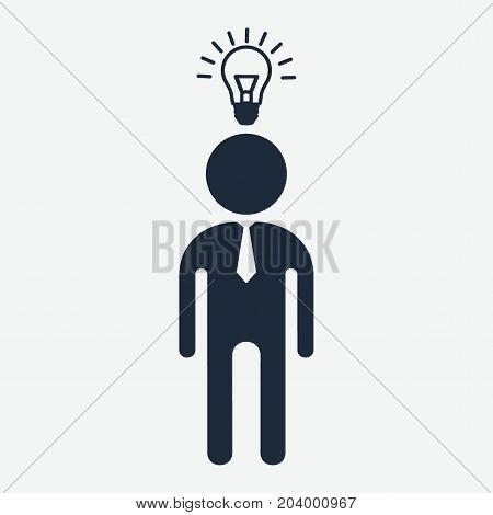 Idea Businessman Black Icon