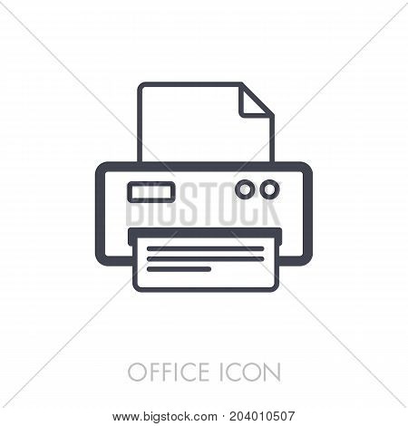 Fax outline icon. Office sign. Graph symbol for your web site design logo app UI. Vector illustration