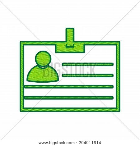 Id card sign. Vector. Lemon scribble icon on white background. Isolated