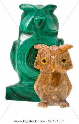 Two Stone Owls