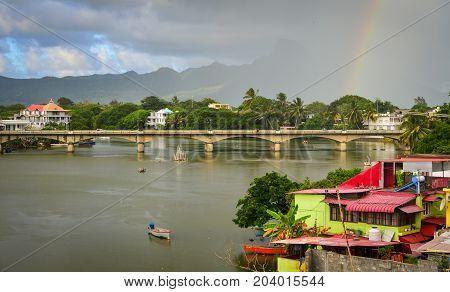 River Scene In Mahebourg, Mauritius