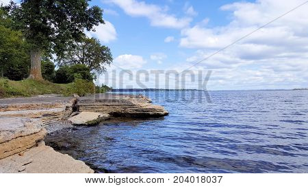 LAKE ONTARIO FROM THE SHORES OF AMHERSTVIEW, ONTARIO