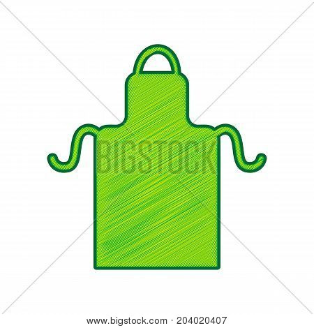 Apron simple sign. Vector. Lemon scribble icon on white background. Isolated