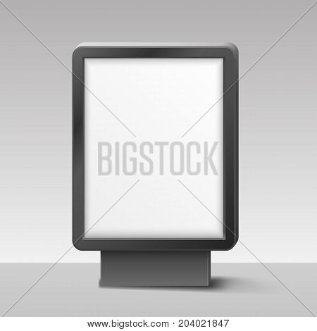 Blank Lightbox, or Signboard on white background. Vector illustration