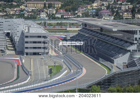 Sochi, Russia - September 11: FORMULA 1 VTB RUSSIAN GRAND PRIX at the Olympic Park on September 11, 2017