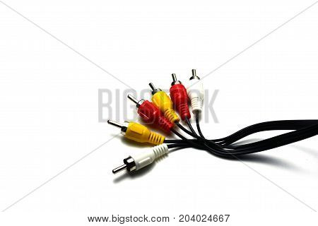 The Signal Cable ,red And White For  Audio ,yellow For Video