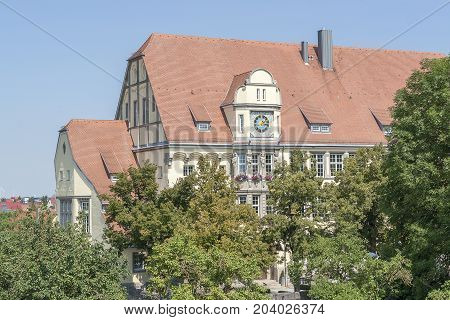 historic building in Rothenburg ob der Tauber a town in Middle Franconia in Bavaria Germany