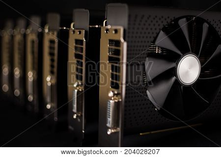 Cryptocurrency Mining Rig Farm Using Computer Graphic Cards