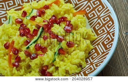 Morasa polow cook Persian Jewelled Rice close up meal