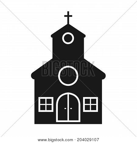 Church icon in flats style. Church isolated on background. Vector stock.