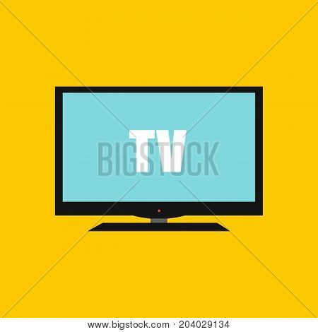 Modern televisioModern television icon in flat style. Vector stock.