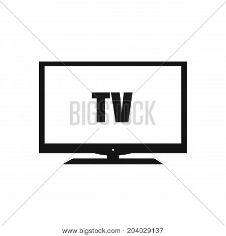 Modern television icon in flat style. Vector stock.