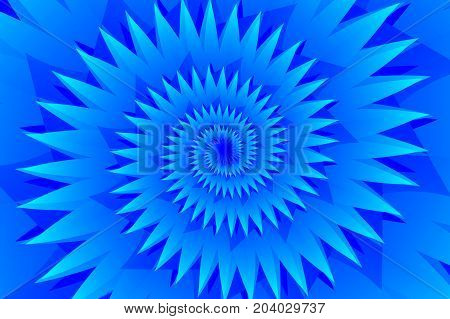 Star blue abstract vector pattern , Concentric star shapes - blue