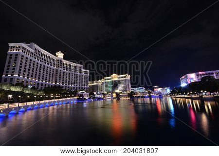 Bellagio Hotel And Casino In Las Vegas, Usa.