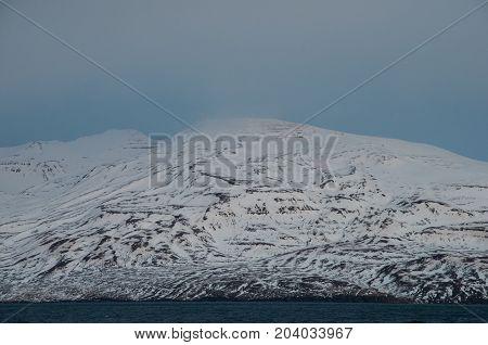 Mountain Kaldbakur in Eyjafjordur in North Iceland