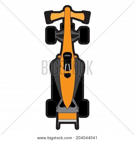 Top view of a racing car, Vector illustration