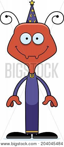 Cartoon Smiling Wizard Ant