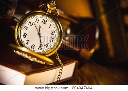 Watch book pocket watch luxury elegance golden antique